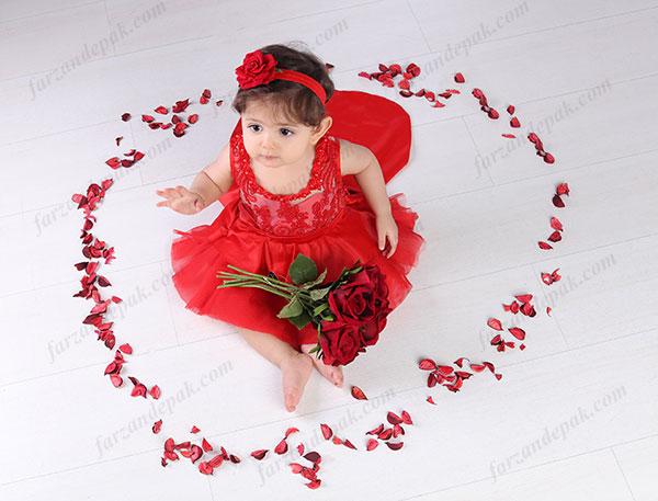 ایده عکس ولنتاین نوزاد و کودک