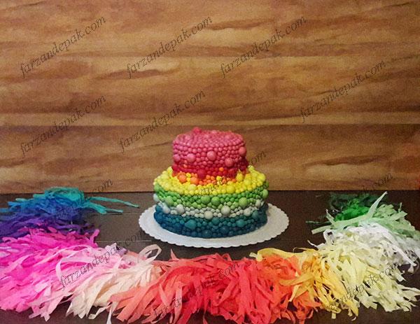 کیک تولد توپی