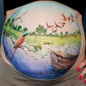 نقاشی روی شکم در بارداری