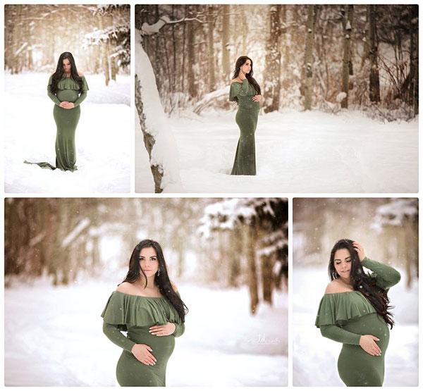 عکس بارداری در فضای باز