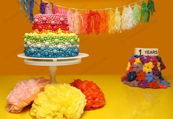 عکس تولد یک سالگی کودک در آتلیه
