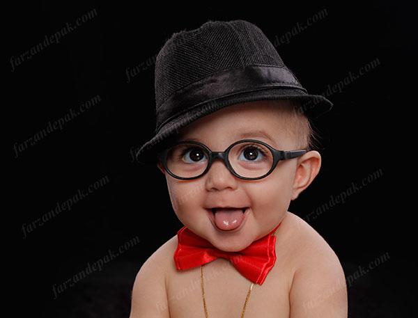 عکاسی نوزاد با عینک