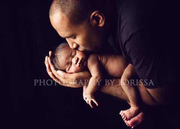ایده عکس نوزاد با پدر