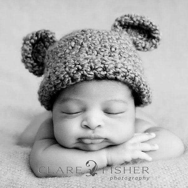 عکاسی سیاه سفید نوزاد