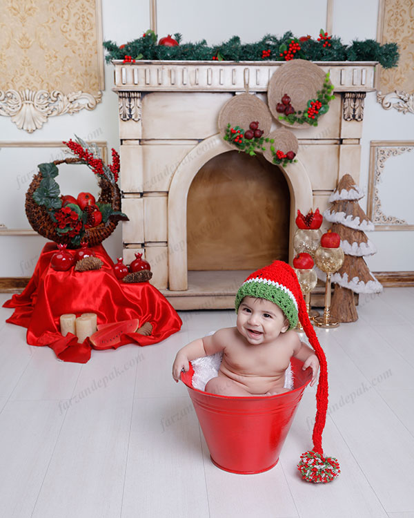 عکاسی نوزاد با تم یلدا