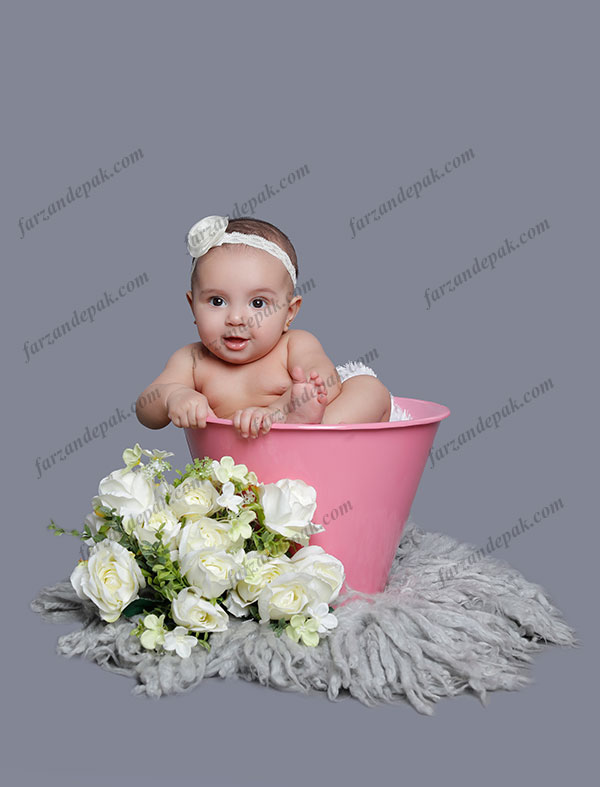 گالری عکس نوزاد دختر تا شش ماه (سری پنجم)