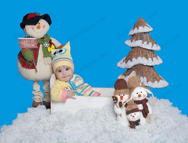 ایده عکس نوزاد در زمستان
