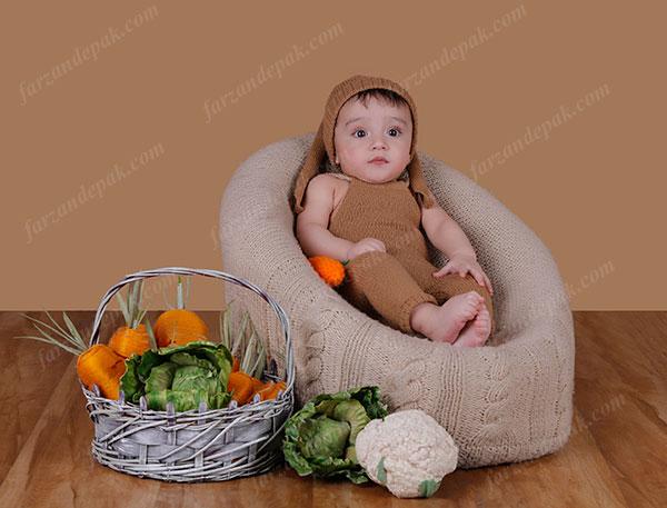 گالری عکس نوزاد پسر تا شش ماه (سری سوم)