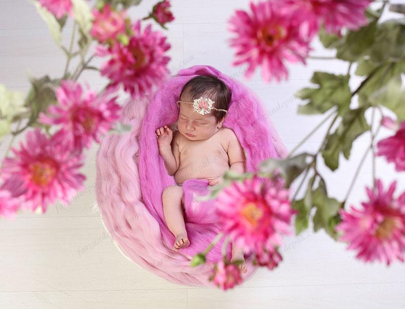 نورپردازی عکاسی نوزاد