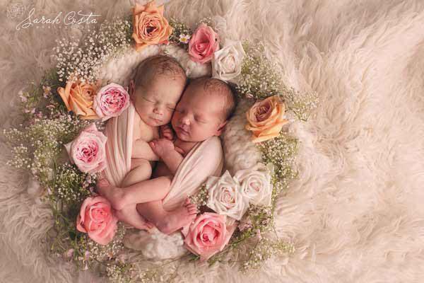 عکاسی از نوزاد دوقلو